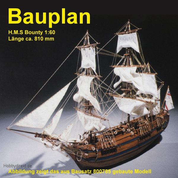 Bauplan HMS Bounty Krick 800954