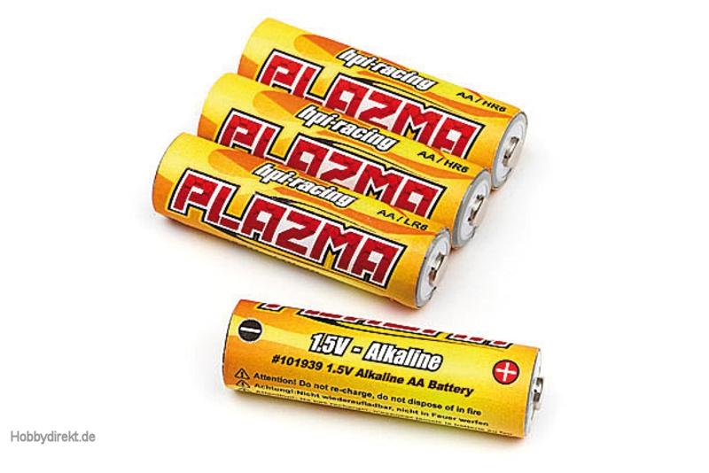 1.5V Alkaline AA Batterie (4St/Plazma) hpi racing H101939