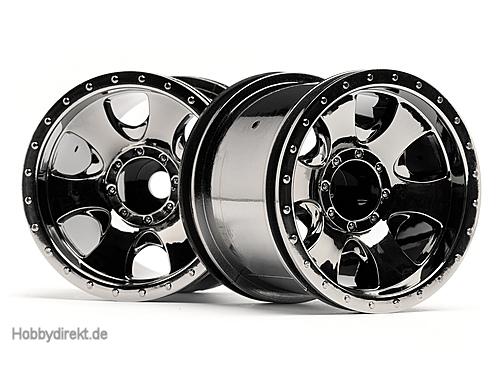 Warlock Felge schwarz-chrom (2.2in/2St) hpi racing H105280