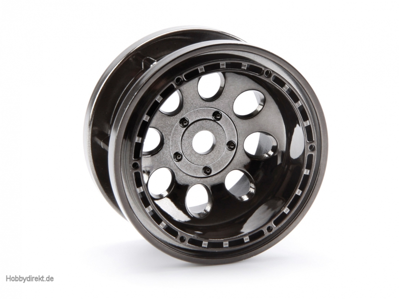 Rock 8 Bead Lock Felge schw-chrom (2St) hpi racing H3214