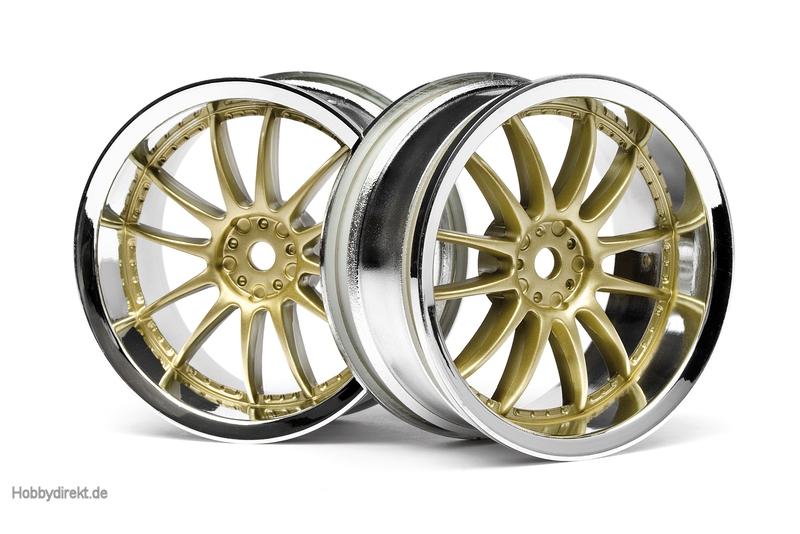 Work XSA 02C Felge 26mm (chrom,gold/3mm) hpi racing H3297