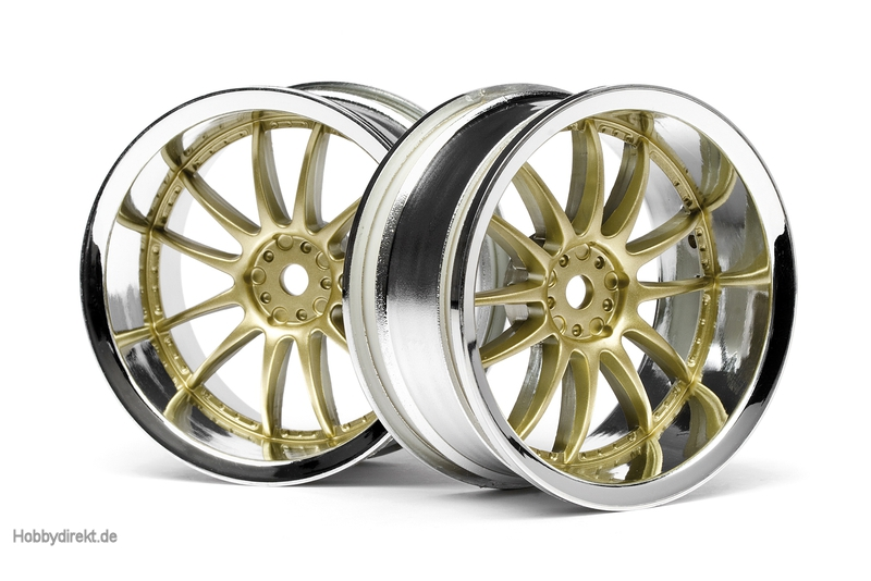 Work XSA 02C Felge 26mm (chrom,gold/6mm) hpi racing H3298