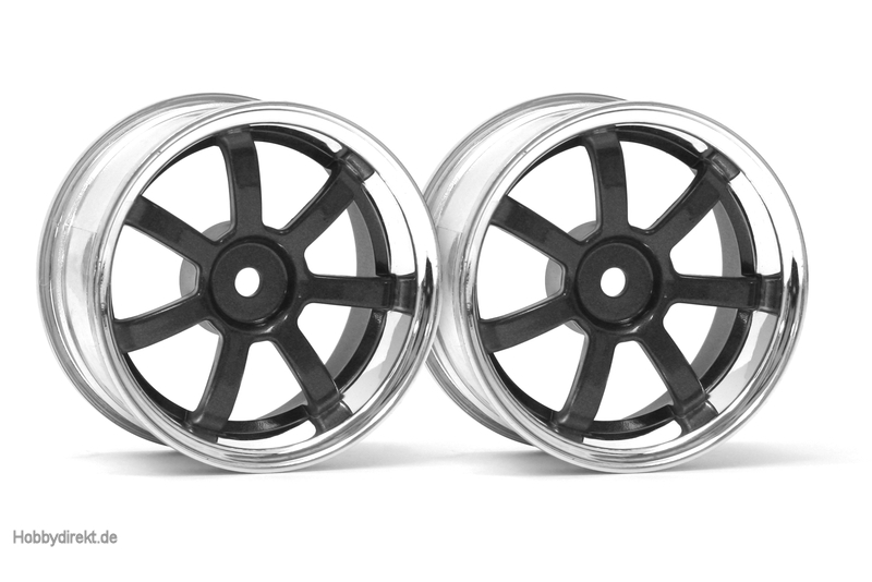 RG Lights 57S-Pro Felge chr./schw. (9mm) hpi racing H3324