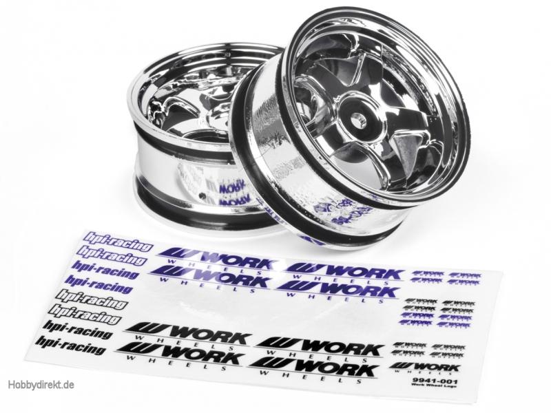 Work Meisters S1 Felge 26mm (chrom/3mm) hpi racing H3591