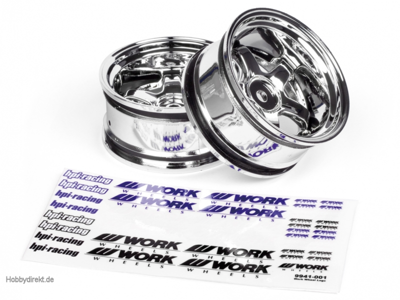 Work Meisters S1 Felge 26mm (chrom/9mm) hpi racing H3593