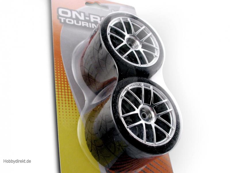 X-Pattern Reifen/6-Speichen Chromfelgen hpi racing H4702