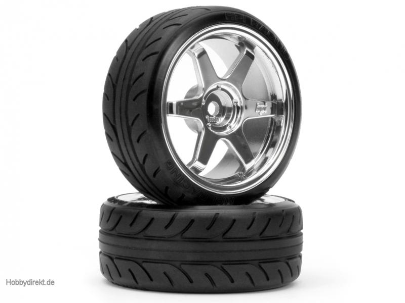Drift Reifen Radial / TE37 Felge (chrom) hpi racing H4704