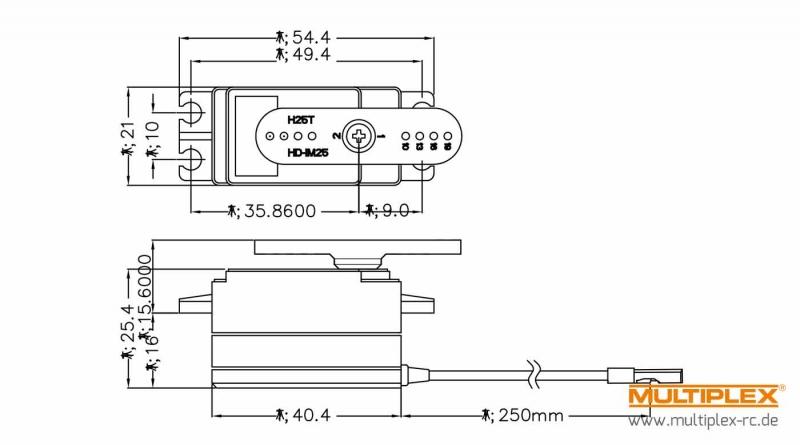 Servo D777MG Multiplex 1-00070