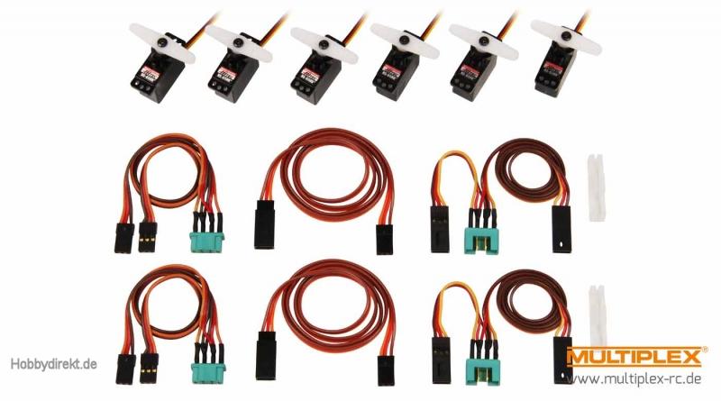 ServoSet mit Kabelsatz M6/UNI Multiplex 1-00113