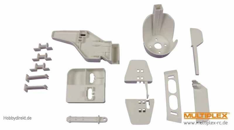Kunststoffteilesatz Rumpf+Lei Multiplex 1-00133