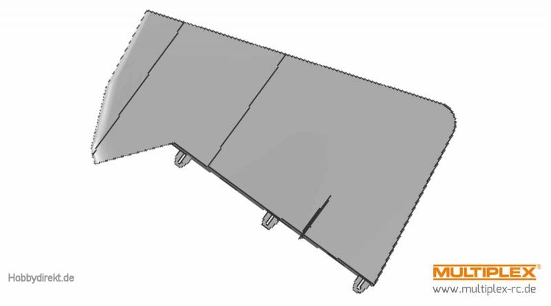 Seitenleitwerk STUNTMASTER Multiplex 224378