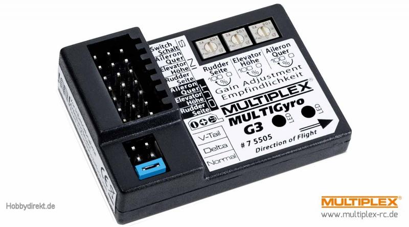 MULTIGyro G3 Kreiselsystem Multiplex 75505