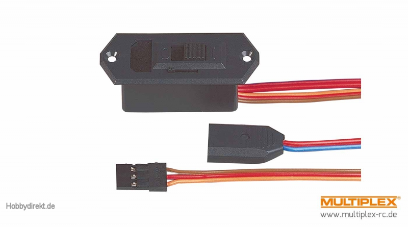 Multiplex Schalterkabel sw/LB/MPX Akku (UNI) Multiplex 85039 ...