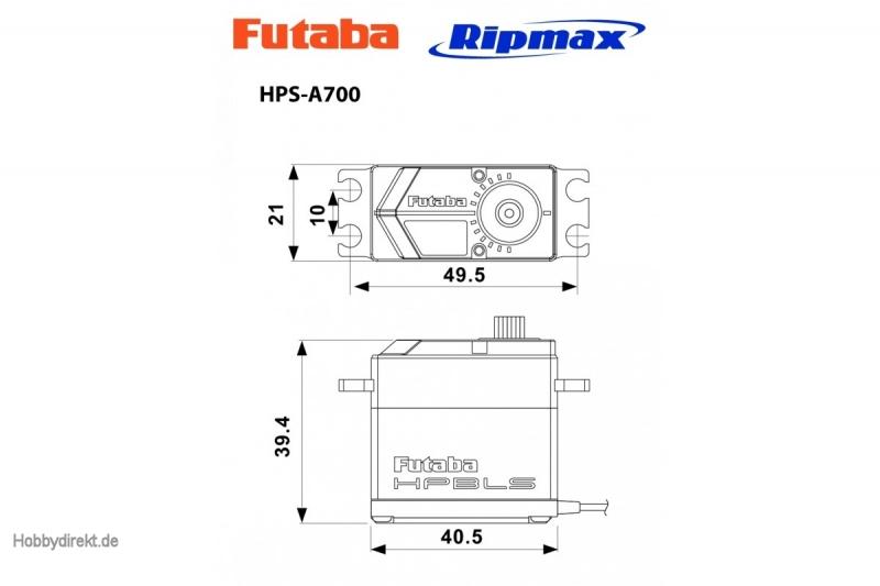 Futaba FUTABA HPS A700 Servopack (4 Stk.) Futaba P-HPS-A700-4
