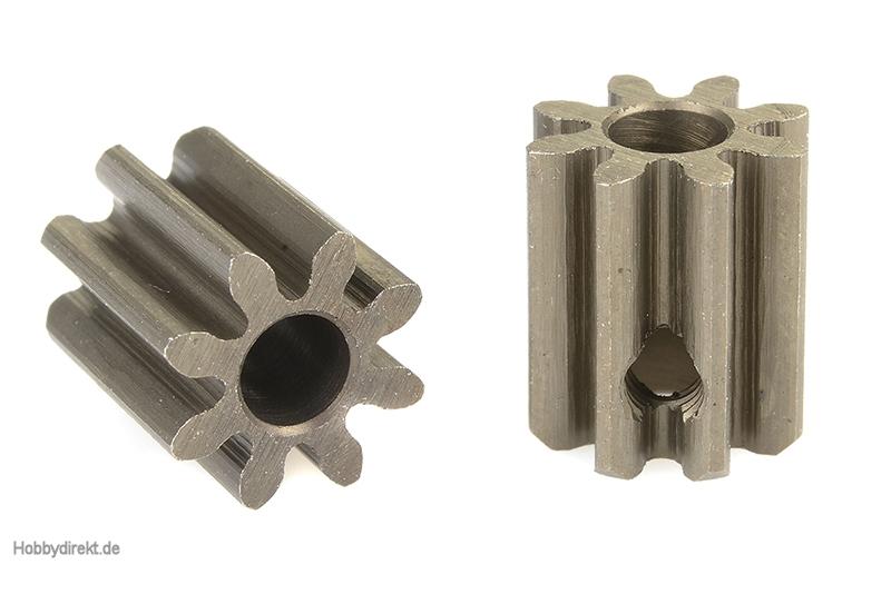 Team Corally - 32 DP Motorritzel - Stahl gehärtet - 8 Zähne - Welle 3.17mm C-71508