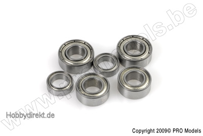 G-Force RC - Kugellager - Chromstahl - ABEC 3 - Metalldichtung - 2X5X2,5 - MR52ZZ - 2 St GF-0550-003