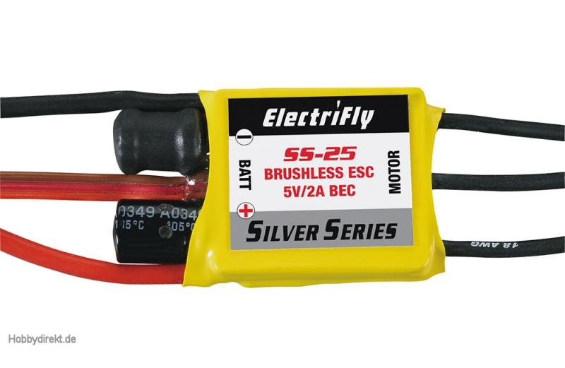 Brushlessregler Silver Series 25A ESC 5V 2A BEC GPMM1820