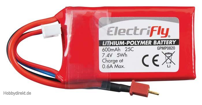 LiPo 2S 7,4 V 600 mAh 25C  GPMP0820