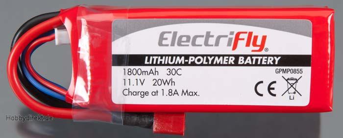 LiPo 3S 11,1 V 1800 mAh 30C  GPMP0855