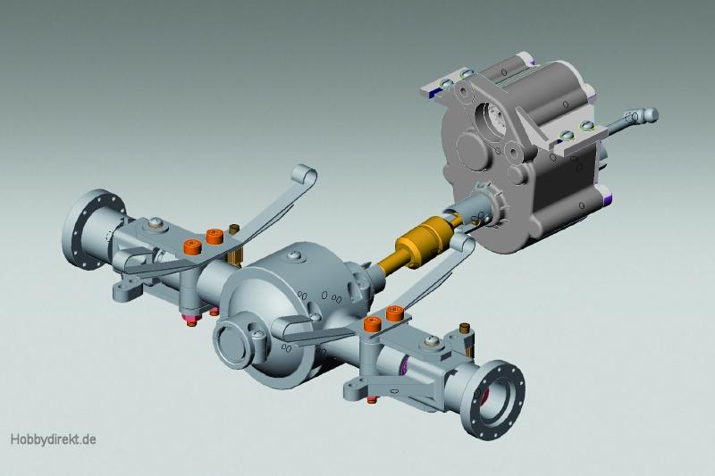 FS Allrad/Zweiganggetriebe HT Robbe 33032000 1-33032000