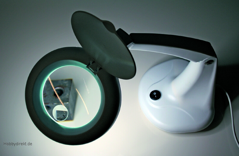 tischlampe m lupe 230v robbe 5716 1 5716 4005697057166 hobbydirekt. Black Bedroom Furniture Sets. Home Design Ideas