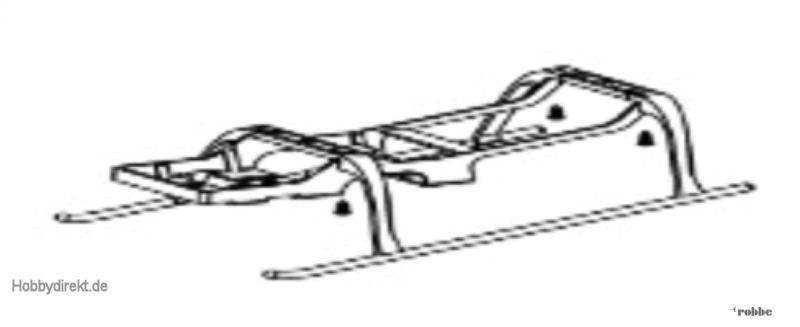Landegestell Solo Pro 126 Nine Eagles Robbe NE252018 1-NE252018