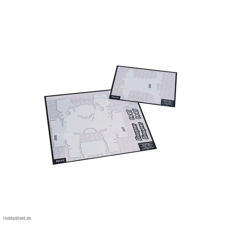 Dekorbogen mz-10/mz-12 weiß Graupner S1002.14W