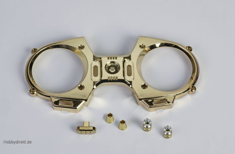 mz-12 Frontpl.+Schalter + Knüppel goldo. Graupner S8524.G
