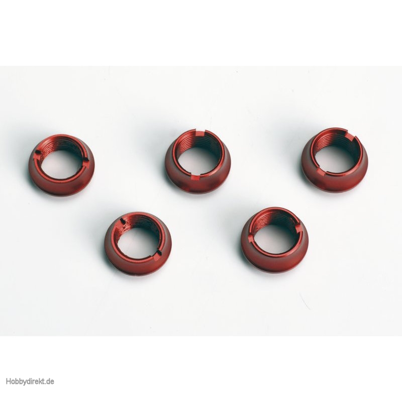 Ziermuttern f.Handsender, rot, 3la, 2ku Graupner S8525.R