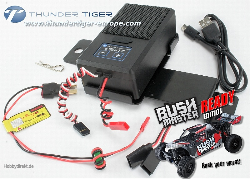 ess tt rc car sound system bushmaster ready thunder tiger. Black Bedroom Furniture Sets. Home Design Ideas