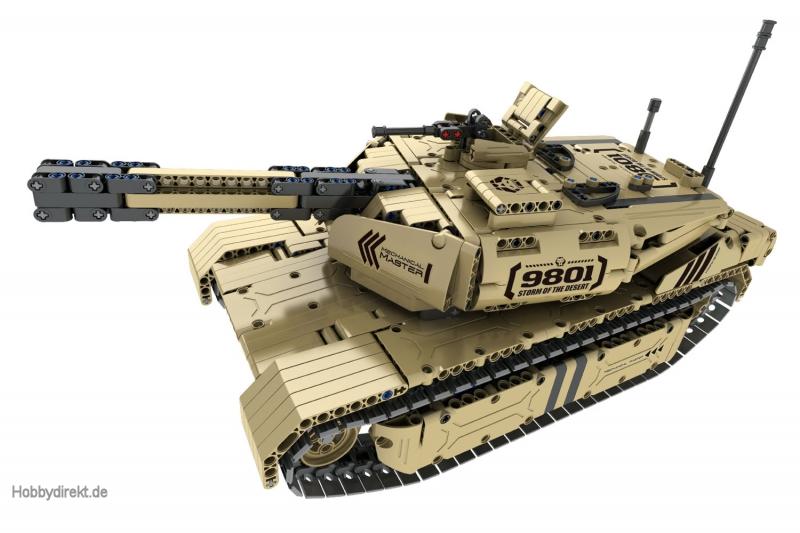 Teknotoys Active Bricks RC Panzer mit Schußfunktion - Konstruktionsbaukasten mit Fernsteuerung Teknotoys 85000030