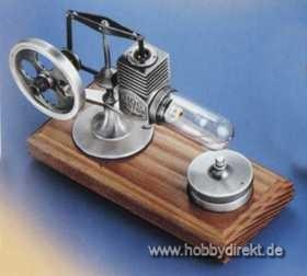 Stirlingmotor Altsilber montiert Krick 22101