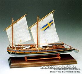 Schwedisches Kanonenboot 1775  Baukasten Krick 25007