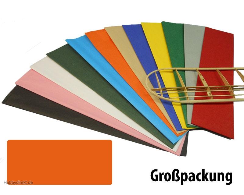 Bespannpapier orange 18g/qm 51x76 cm (50) Krick 40391