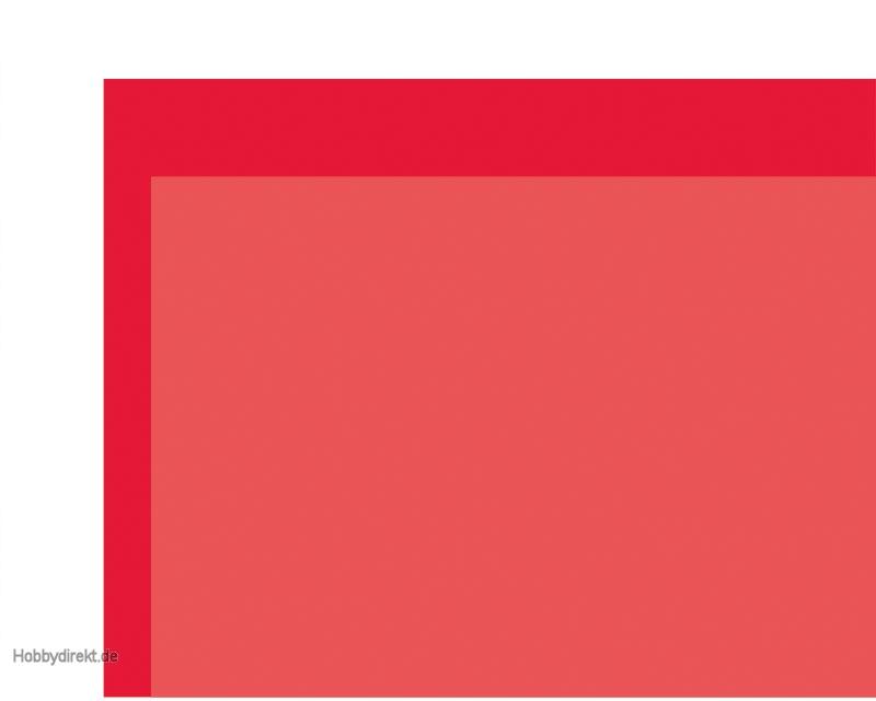 Pvc klebefolie transparent dkl rot 0 1x194x320 mm krick for Pvc klebefolie