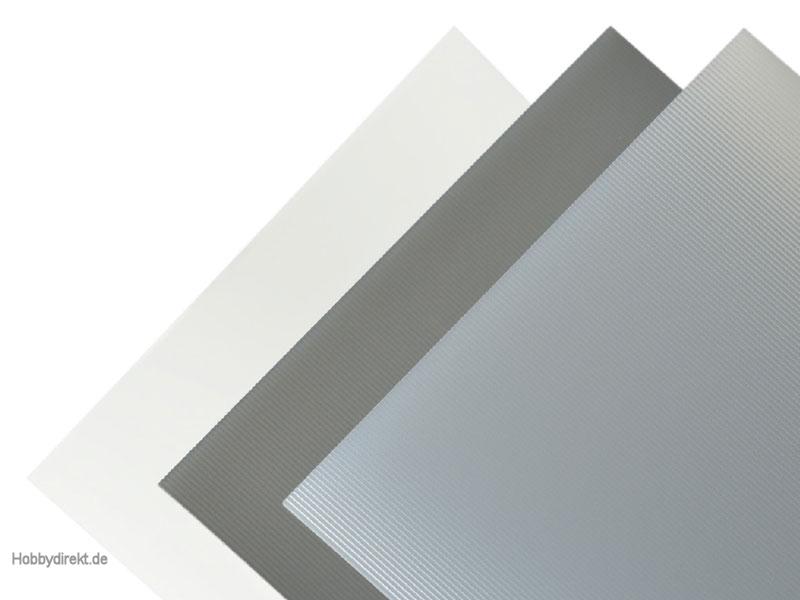 Kunststoffplatte EVACAST® längs gerippt 1,3x328x475 mm Krick rb660-02