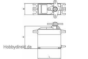 Servo brushless HGMSLP + T BB MG 20 mm Graupner S4087