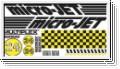 Dekorbogen micro-JET Karo gelb Multiplex 724196