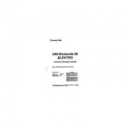 Handbuch UNI-Mechanik 40 El.,engl. Graupner 1297.201