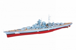 WP BISMARCK Schlachtschiff ohne Tarnung Graupner 2089.G