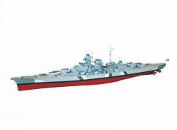 WP BISMARCK Schlachtschiff Masstab 1:150 Graupner 2089
