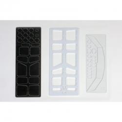 Fräsplatten D,I,UFenster/Rahmen Graupner 2157.10