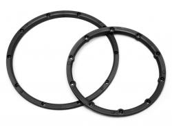Felgenringe (schwarz/für 2 Felgen/Baja 5B) HPI 3241