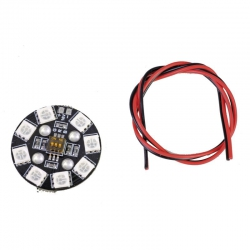 RGB LED PCB rund 4S16V m. DIP Graupner 48196.RGB
