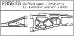 Querlenker vorne ob/unt (2) Carson 205646