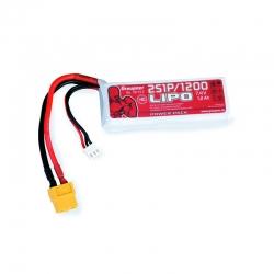 Power Pack LiPo 2/1200 7.4 V Graupner 78112.2