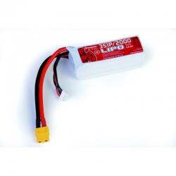 Power Pack LiPo 3/2000 11,1 V 70C XT60 Graupner 78120.3