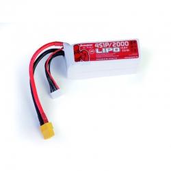Power Pack LiPo 4/2000 14,8 V Graupner 78120.4