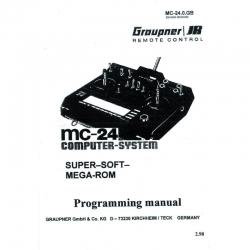 Programming manual,MC-24 Graupner 8000 MC240GB