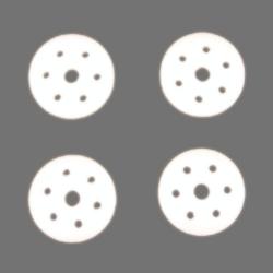 Dämpferkolbenplatten4 Stück Graupner H90047